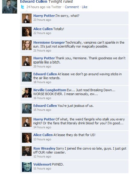 Twilight Vs. Harry Potter<<<Potter is life