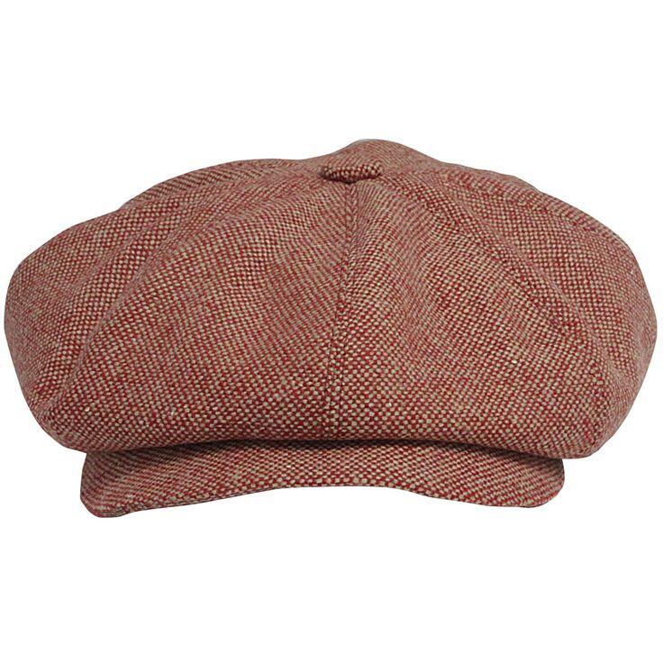 Newsboy cap model with Pink Beige