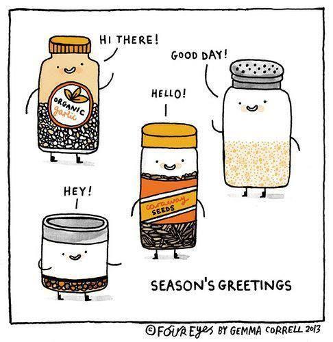 Seasoning Greetings   Food is Fun   Pinterest   Food Puns