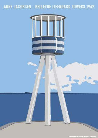 Kim Lynnerup - Arne Jacobsen - Bellevue Lifeguard Towers