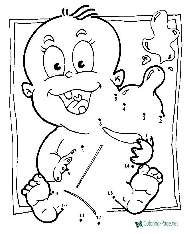 Connect The Dots For Kids Coloring Pages Baby Bottles Baby Bottle Warmer