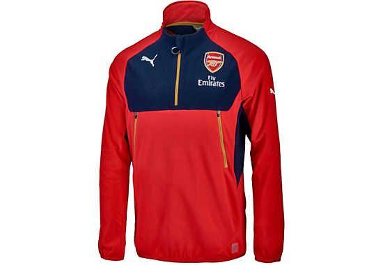 Puma Arsenal Training Fleece. It's available at SoccerPro.