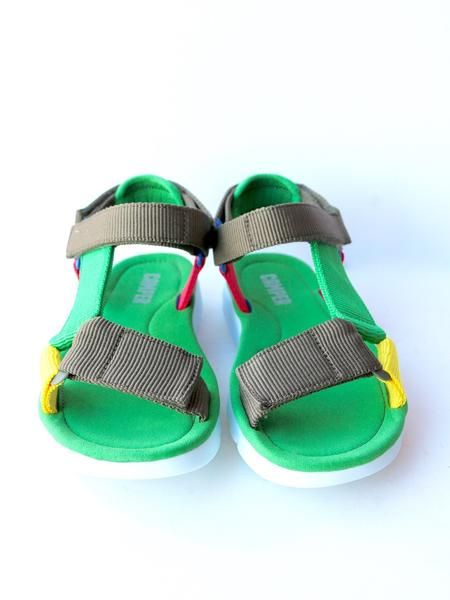 This Camper Oruga Sandal is a little different from its Oruga brethren-- this one has wrap-around, river-sandal straps (how cute would you look in these rafting the Yakima River this summer?) that you can adjust with the velcro fasteners. The famous Camper rubber outsole still goes all-terrain. Order in whole European sizes.