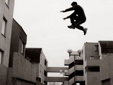 """""""C'mon, you can make it. You've made jumps bigger jump in your life."""" His mind screamed at him, as stopped at the ledge."""