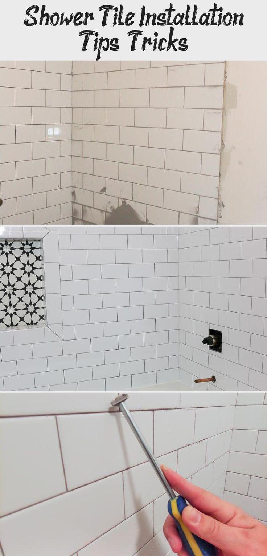 Shower Tile Installation Tips & Tricks Bathroom in 2020