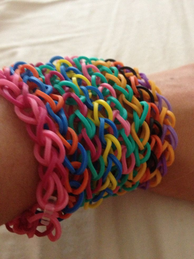 Easy single rainbow loom bracelets! | Will's Board | Pinterest