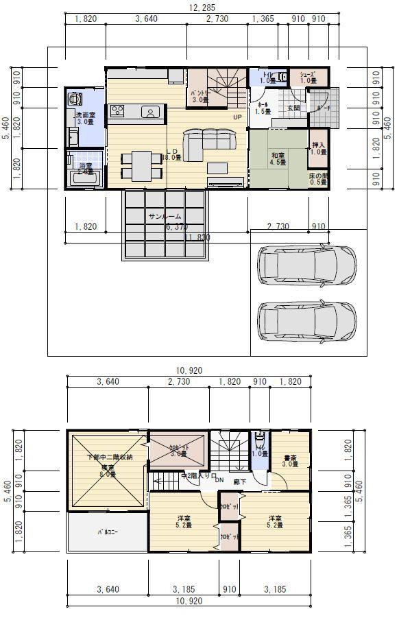 間取り 34坪 4ldk 蔵収納 中二階 間取り 間取り 30坪 2階 間取り