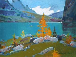 Float Ice at Lake McArthur - Robert Genn