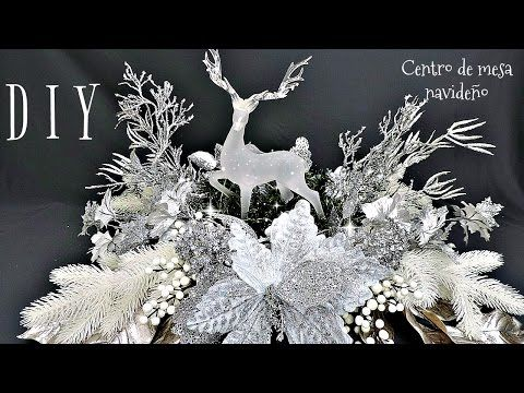 Centro de Navidad para Mesa, Chimenea o repisa DIY - YouTube