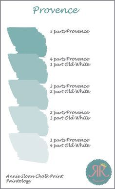 Find out what colour combinations you can make with Annie Sloan Chalk Paint. We kick off the series with Annie Sloan Chalk Paint in Provence mixed with Old White. You can see more over on the blog www.rascalandroses.co.uk/blog…