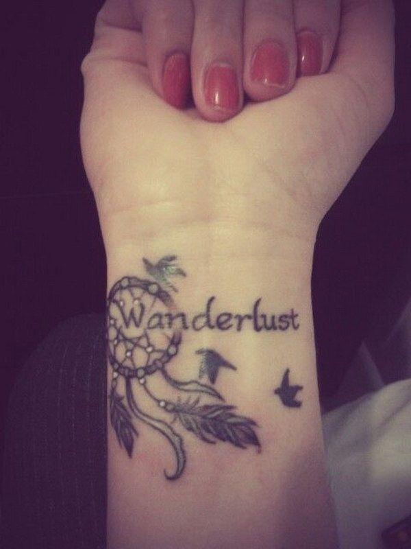 Dreamcatcher Tattoo Design on Wrist.