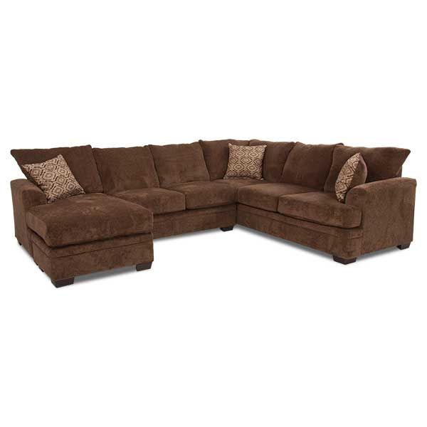 2PC LAF Chaise Cocoa Sectional C 68LC 2PC American