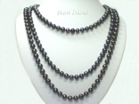 66in Black Pearl Long Necklace: www.pearlisland.co.uk