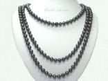 66in Black Pearl Long Necklace: www.pearlisland.co.uk