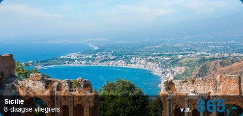 Schitterende tempels, amfitheaters, prachtige steden en pittoreske vissersdorpjes. Ga mee naar Sicilië