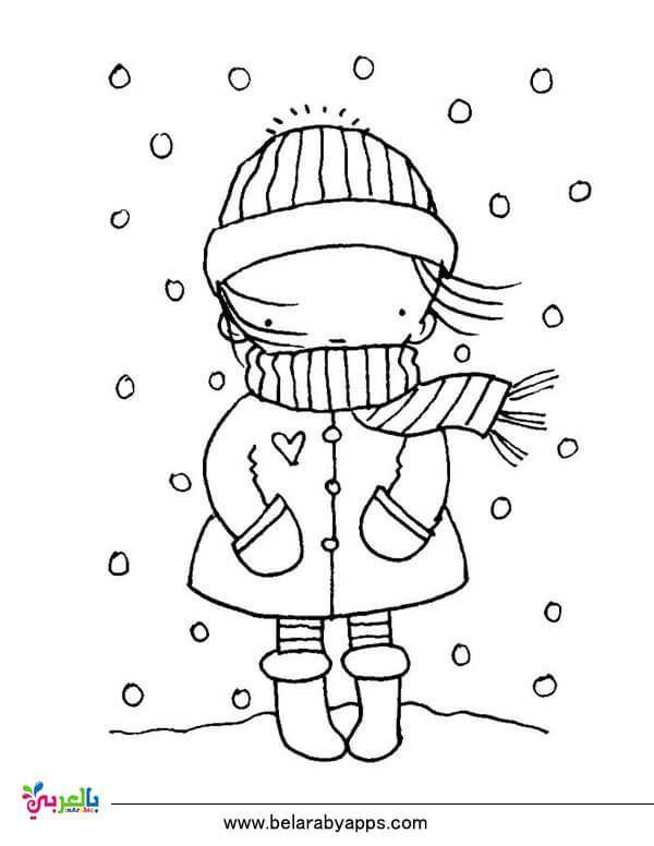 Dibujos Para Colorear Sobre Papeles De Invierno Para Imprimir Colorear Dibujos Impr Dibujos De Invierno Dibujos Para Colorear Sellos Digitales