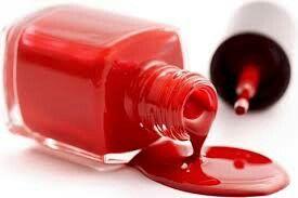 Nail polish bottle with dripped nail polish
