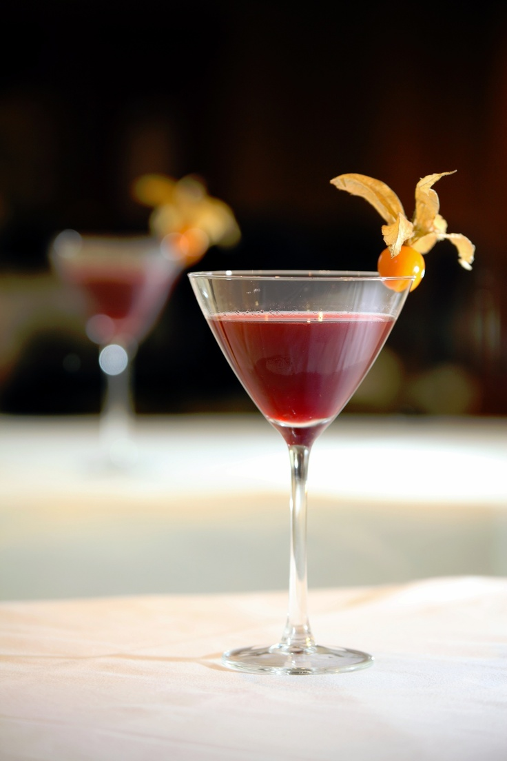 A Scotsman Hotel classic in the making, the Botanical Garden cocktail combines tanqueray gin with St Germain Parisian elderflower liqueur, muddled blackberries, a dash of apricot and a dot of peach bitters. Shaken well over ice and served straight up with a opened physalis.