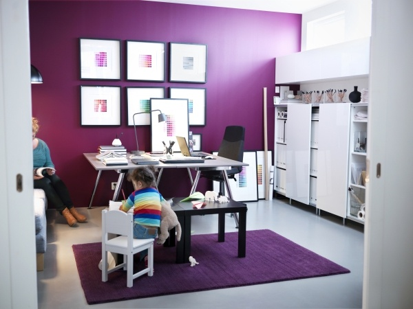 ikea home office images girl room design. Ikea Office Furniture Uk Cute Purple Wall Home Designs Theme White Workspace And Desk Design, Best Images Girl Room Design E