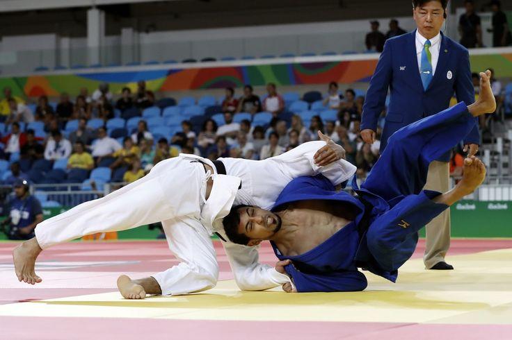 DAY 1:  Men's Judo - Yeldos Smetov of the Netherlands vs Mohamed Elhadi Elkawisah of Libya