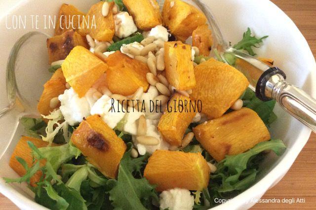 Con Te in Cucina: INSALATA CON ZUCCA, PINOLI E FETA