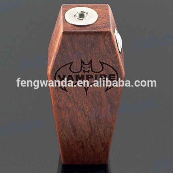 Wood Vampire Box Mod vape full 26650 mechanical mod Battery advken Vampire coffin mods