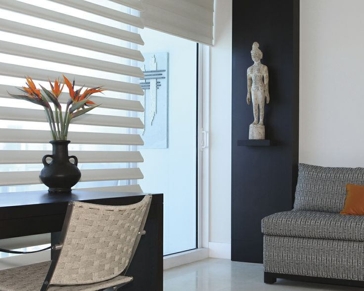 Luxaflex Pirouette Shadings provide the perfect finishing touch to any home.
