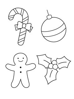 44 best printables images on christmas ornaments ornaments cut them out - Cut Out Christmas Decorations
