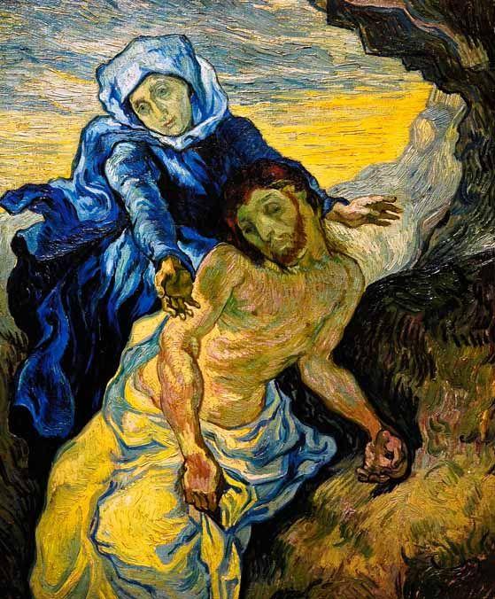 Vincent Van Gogh - Post Impressionism - Saint REMY - Pieta (d'après Delacroix) - 1889