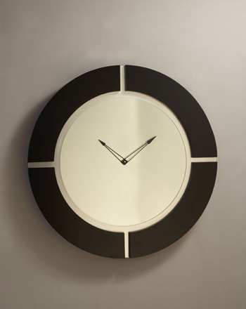 Large modern wall clock check out our very sexy large modern wall clock it has a modern black - Large brushed nickel wall clock ...