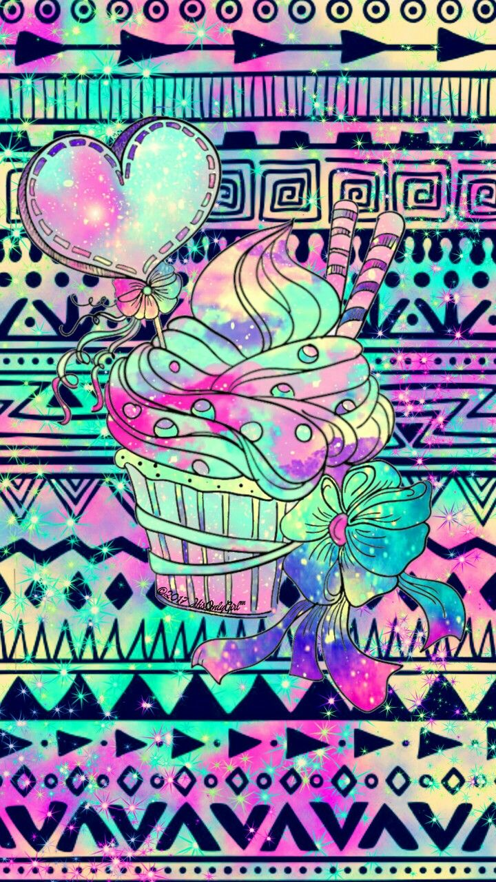 Sweet Tribal Cupcake Aztec Galaxy Wallpaper I Created For The App CocoPPa