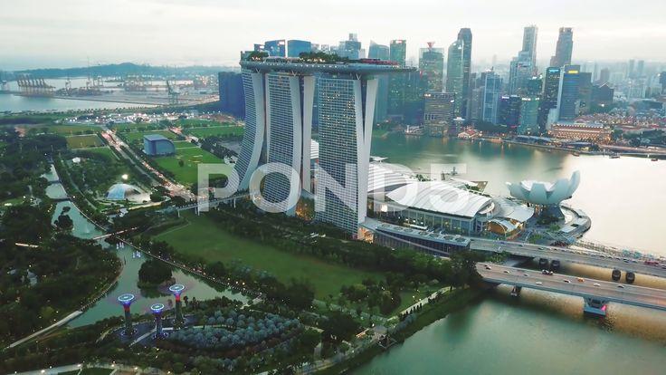 Drone Shot Of Marina Bay Sands Hotel Singapore Stock Footage Ad Marina Bay Drone Shot Sands Hotel Sands Hotel Singapore Marina Bay Sands