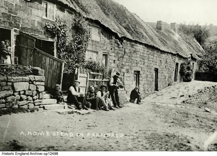 Rawson Syke farm, Farndale East, Yorkshire. 1880 - 1903.  For more information or to search our catalogue please click the image.