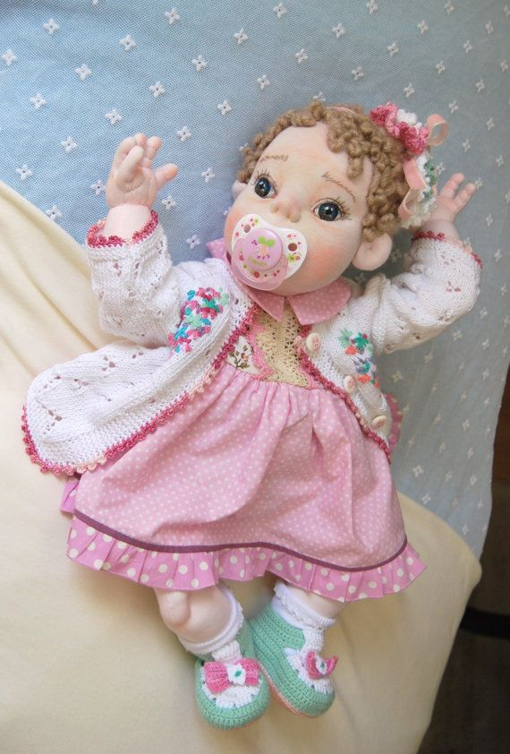 NINA 2051 cm  Soft Sculptured DolL Whit by MaryUniqueDoll on Etsy