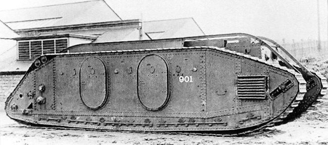 The Mark IX, designed to be a infantry supply vehicle - 30-50 soldiers or 10 tons of cargo