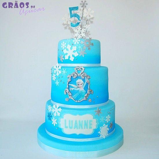 Frozen Cake Design Pinterest : Frozen - Moldura - Graos de Ac?car - Bolos decorados ...
