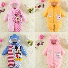 kış tulum bebek giysileri arabacılarla bebek kız yeni doğmuş bebekler için giyim kalınlaştırmak roupas bebes perakende markası ücretsiz nakliye 2015(China (Mainland))