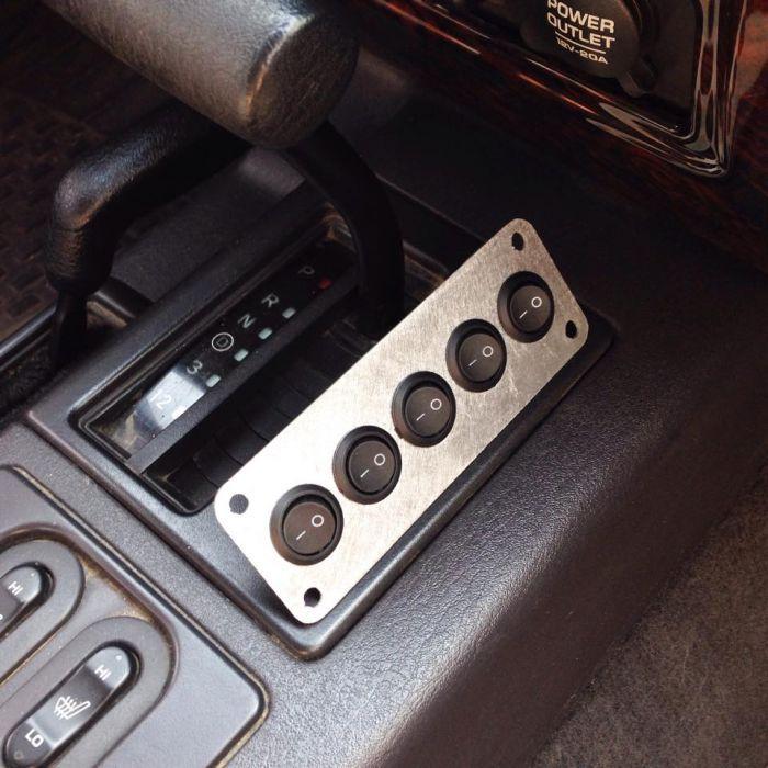 Transmission Bezel Switch Panel 5 Hole 97 01 Jeep Cherokee Xj