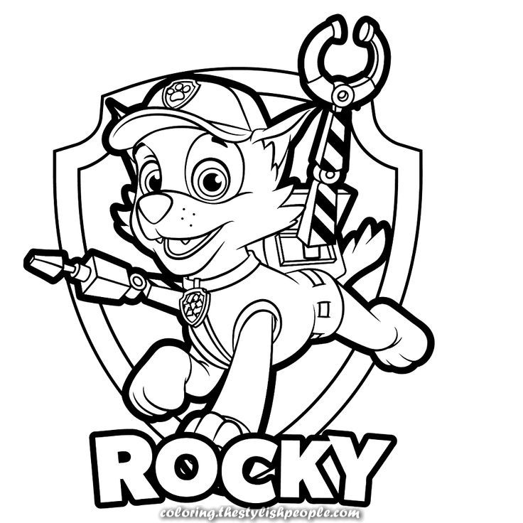 Unique and Creative Rocky with badge #badge #rocky | Paw ...