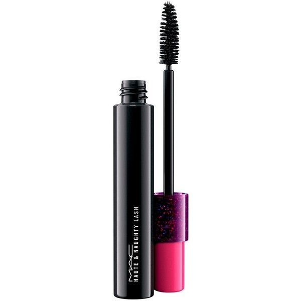 MAC Haute & Naughty Lash - Colour Too Black Lash (£20) ❤ liked on Polyvore featuring beauty products, makeup, eye makeup, mascara, smudge proof mascara and mac cosmetics