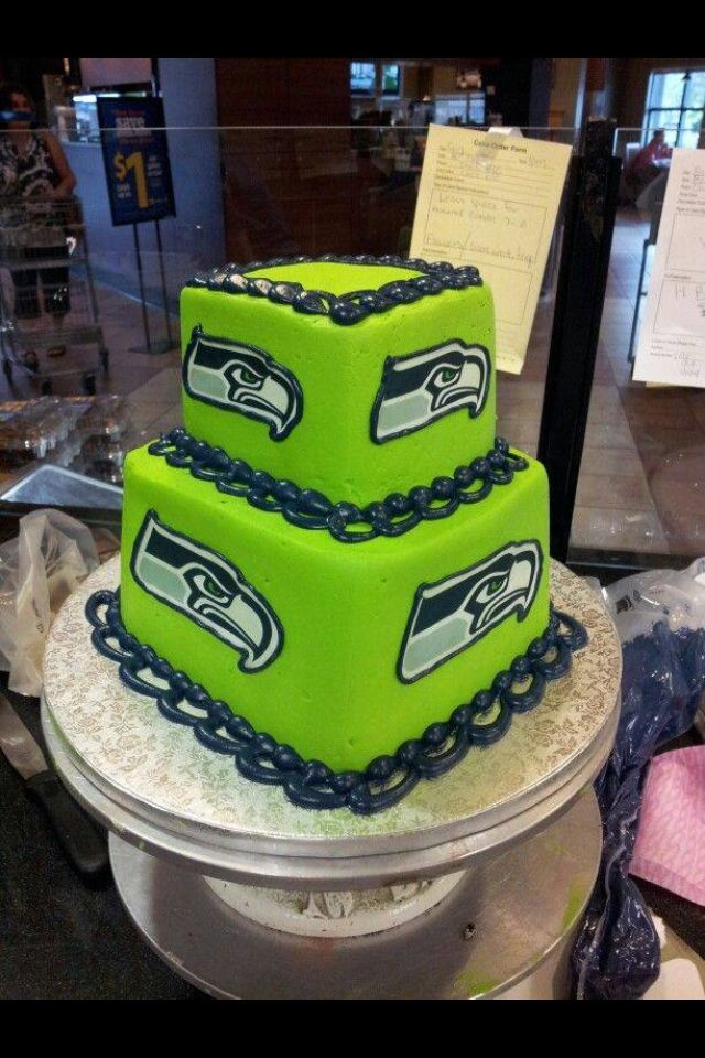 18 Best Seattle Seahawks Cakes Images On Pinterest