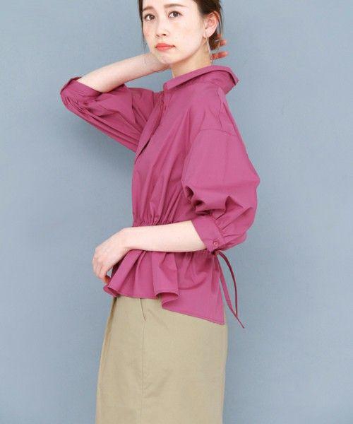 【ZOZOTOWN 送料無料】KBF(ケイビーエフ)のシャツ/ブラウス「【WEB限定】KBF バックリボンドロストブラウス」(KW75-23J070)を購入できます。