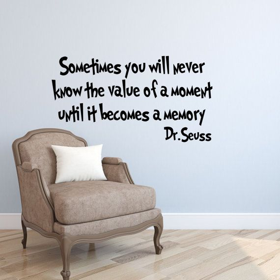 Sometimes You Will Never Dr Seuss Wall Quotes Dr Seuss Wall Sayings Dr Seuss  Kids Bedroom Decor Motivational Wall Decals Inspirational Walls Part 60