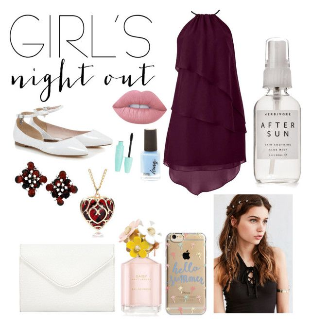 """Girls night out"" by dreamygal789 on Polyvore featuring Lime Crime, REGALROSE, Agent 18, Neiman Marcus, Herbivore and girlsnightout"