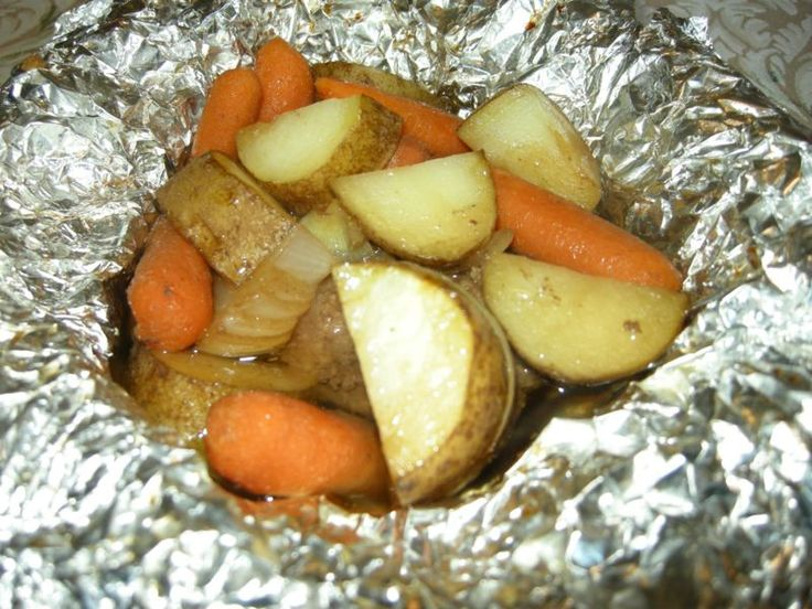 Hobo Packets - I have been making these for years, and they are an easy to make dinner. I season with salt and pepper, but you can be creative with your seasonings.