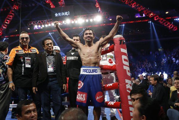 Pacquiao took care of business on Saturday, and now all eyes again turn to a dream fight with Floyd Mayweather.