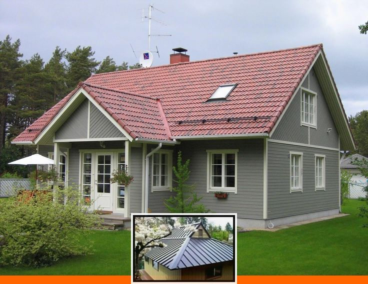 Metal Roofing Styles And Colors And Metal Roof Types And Colors In 2020 House Paint Exterior Red Roof House Exterior Paint Colors For House