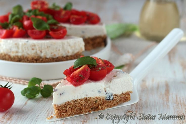 cheesecake ricetta torta salata senza cottura all'italiana facile veloce con…