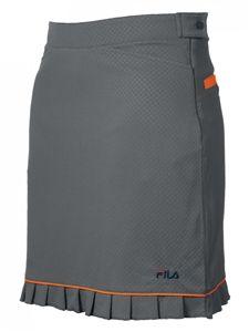 Fila Golf Women's Golf Skort in Silver/Atomic Orange. Cute bright orange undershorts!   #golf4her