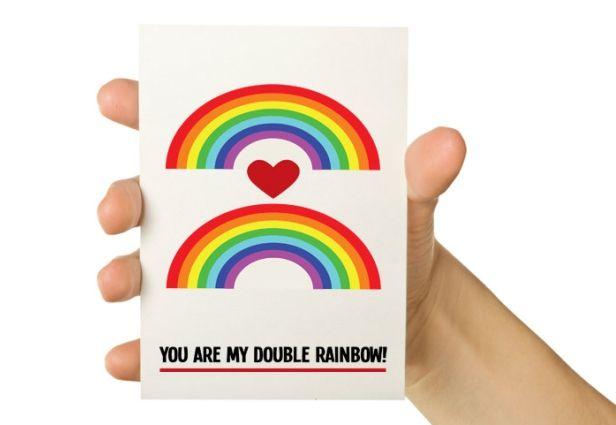 #Tech Valentines DayFunny Valentine, Geek, Valentine'S Day, Valentine Day Cards, Double Rainbows, Valentine Cards, Greeting Card, 5X7 Greeting, Rainbows Cards